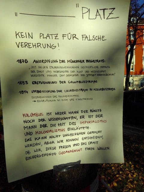 Erklärung Kolumbusplatz